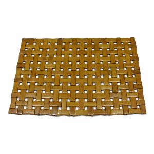 Natural Bamboo Block Placemat for Tabletop & Flooring