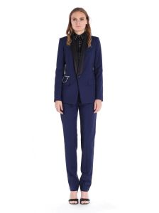 China New Design Women Blue Tuxedo Suit China Latest Dress Designs