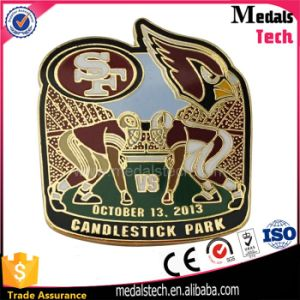 Customized Metal Enamel Rugby Event Pins for Candlestick Park pictures & photos