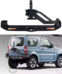 china suzuki jimny steel rear bar with swing tire carrier. Black Bedroom Furniture Sets. Home Design Ideas