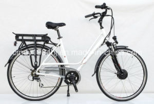 Dutch Best Selling City Electric Bike with Front Powered Motor Rear Style Battery (HJ-15C04)