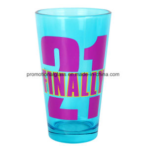 16oz Glass Tumbler, Printed Beer Pint Glass