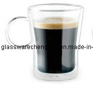 High Borosilicate Double Wall Glass Mug (B-DBW23) pictures & photos