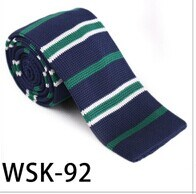New Design 100% Polyester/Silk Knitted Tie (wsk-92) pictures & photos