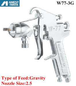 Anest Iwata Air Spray Gun Gravity Feed 2.5 Nozzle pictures & photos