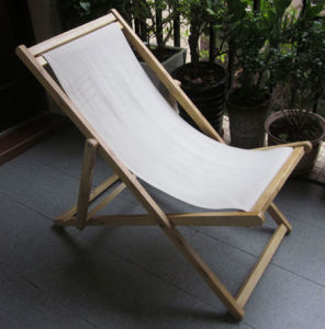 Canvas U0026 Wood Beach Chair / Folding Deck Chair (BZ002F) Promotion Deck Chair