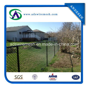 Black Powder Coated Chain Link Fence Systems pictures & photos
