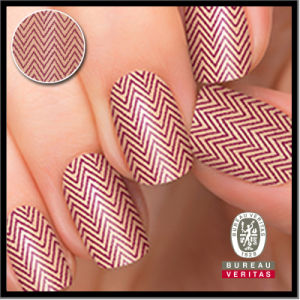 China A Seemingly Textured Herringbone Pattern Real Nail Polish Nail