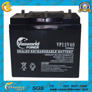 12V40ah AGM Rechargeable Sealed Lead Acid Battery pictures & photos