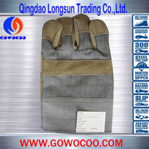 Cow Split Leather Safety Work Gloves (GW-906)