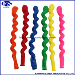 100% Natural Latex Balloon Spiral Shaped Latex Balloons pictures & photos