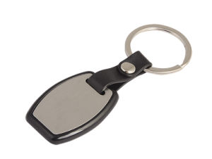 Promotion Acrylic Plastic Black Color Key Ring Custom Logo (F1012)