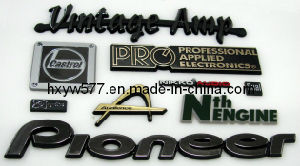 Custom Metal/Plastic/Embroidery/Soft PVC Auto Car Chrome Badge Emblem with Logo pictures & photos