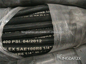 1 Inch Fiber Reinforced Hydraulic Rubber Hose (SAE100 R6) pictures & photos