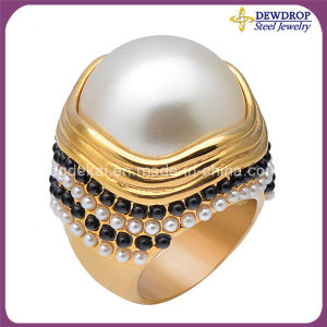 Fashion Women Accessories Jewelry Stainless Steel Pearl Ring Jewelry