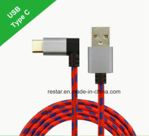 Type-C to USB 2.0am Cable with 90 Degree Angle