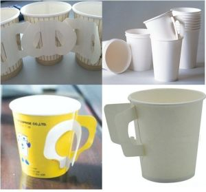 Double Stations Semi-Auto Paper Cup with Handle Making Machine (WY-12)