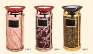 New Design Marble Like Ash Dustbin (DK148) pictures & photos