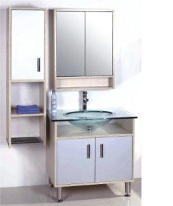 China MDF Bathroom Vanity Unit With Glass Basin Or Glass Top And - Glass top bathroom vanity units