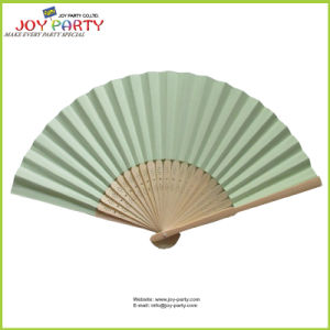 Mint Green Paper Hand Fan for Promotion Gift
