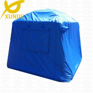Small Blue PVC Tarpaulin Tube Camping Inflatable Tent