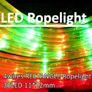 China 4 wires led flexible rectangle rope light ip44 outdoorindoor 4 wires led flexible rectangle rope light ip44 outdoorindoor red yellowgreen aloadofball Image collections