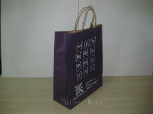 150GSM Kraft Paper Promotional Bag with Twist Paper Handles (hbpb-69) pictures & photos