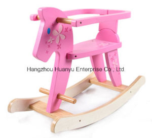 Good Quality Wooden Rocking Horse with Safeguard pictures & photos