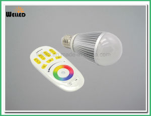 2.4G RF 9W RGBW LED Light Bulb with 4-Zone Touch Remote Control