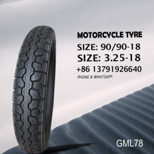 Motorcycle Tyre/ Tire and Tube Tubeless 3.25-18 90/90-18