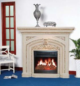 Electric Fireplace /Granite Fireplace (9048C) pictures & photos
