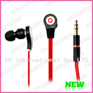 Flat Wired Handsfree Earphone With Micro