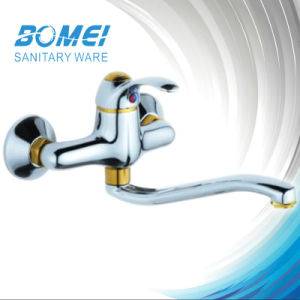 Single Handle Plating Wall Kitchen Faucet (BM50202) pictures & photos