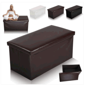 Strange High Quality Leather Ottoman Folding Storage Pouffe Seat Stool Box Gamerscity Chair Design For Home Gamerscityorg
