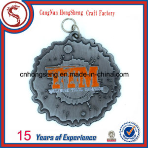 Customized Antique Gold Silver Copper Sport Metal Medal with Colorful Customized Ribbon pictures & photos