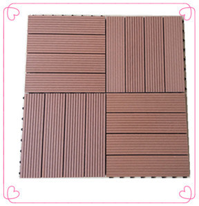 Factory Cheap DIY WPC Deck Tile (30X30) for Outdoor Garden