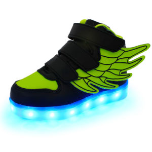 Kids Wings LED Light up Sneaker (Little Kid- Black) pictures & photos