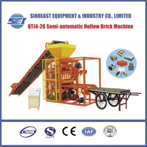 Qtj4-26 Small Type Semi-Automatic Hollow Brick Making Machine pictures & photos