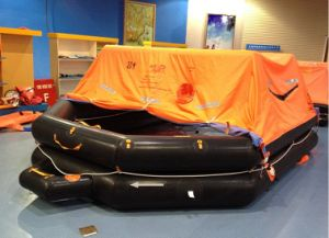 Marine 6 to 30 Persons Throw-Overboad Inflatable Life Raft pictures & photos