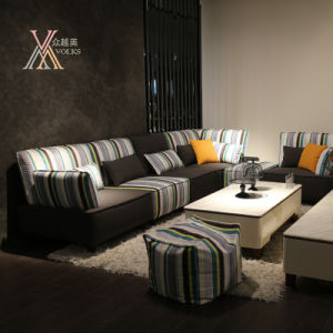 Modern Fabric Sofa Set with Stripe Pattern (803#)
