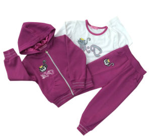 Leisure Fashion Cotton Sweatshirt Hoodies in Children Clothing for Sport Suits Swg-108