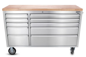 China 55 Rubber Wood Top Stainless Steel Roller Cabinet China