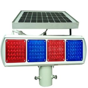 Single Side Solar Traffic Signal Light/LED Flash Warning Light pictures & photos
