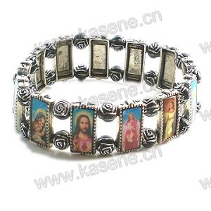 Metal Alloy Saints Rosary Bracelet