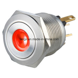 19mm L19m DOT LED Momentary Normal Open Anti Vandal Switches with 4 Pin Terminal pictures & photos