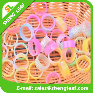Personalized Fashion Advertising Colorful Silicone Finger Rings (SLF-SR013)