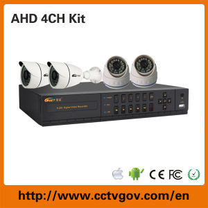 4CH 720p DVR Kits with 1.3MP Ahd Security Camera