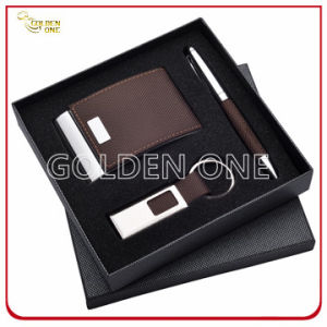 Exquisite Gift Leather Card Case and Click Pen Gift Set pictures & photos