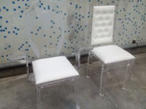 White Acrylic Wedding Chair Living Room For