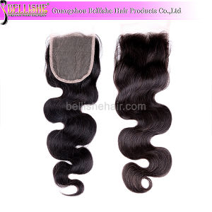 Hot Sale Body Wave #1b Free Part Top Lace Closure